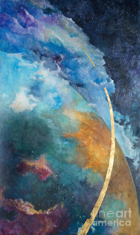 Sky Art Print featuring the painting Constellations by Cheryl Myrbo
