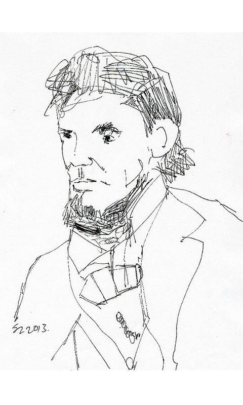 Lincoln Art Print featuring the drawing Lincoln by Samuel Zylstra