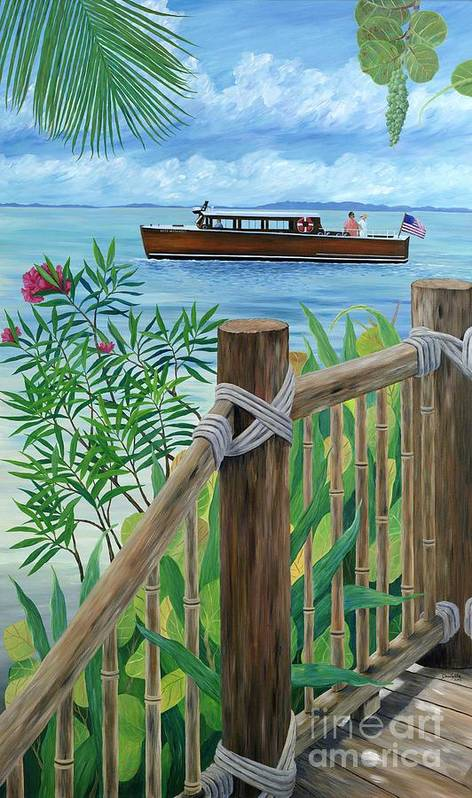 Island Art Print featuring the painting Little Palm Island by Danielle Perry