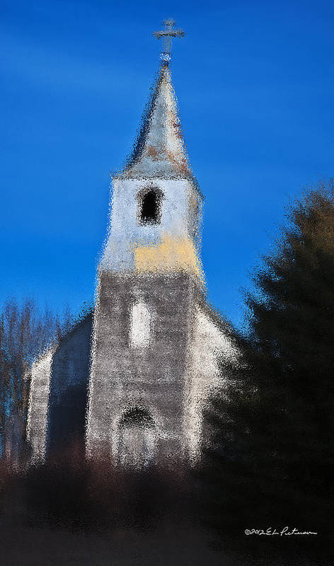 Church Art Print featuring the photograph Church Of Days Gone By by Edward Peterson