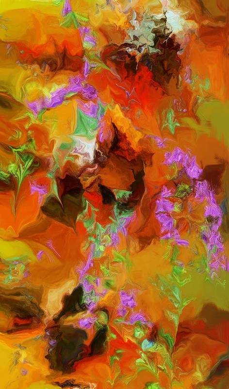 Fine Art Art Print featuring the digital art Garden Nightmare by David Lane