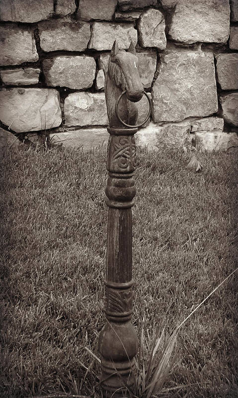 Iron Art Print featuring the photograph Hitching Post by Brenda Conrad