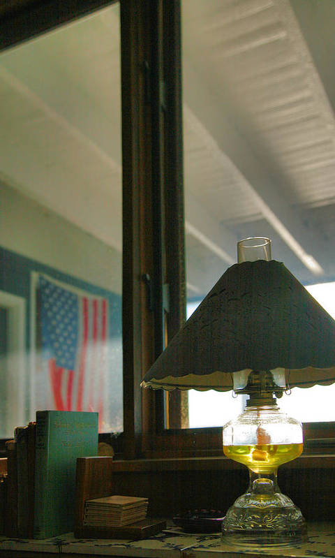 Light Art Print featuring the photograph Oil Lamp And Porch by Steven Ainsworth