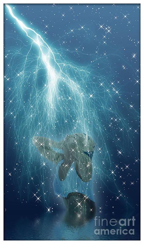 Fantasy Art Art Print featuring the digital art Shiver by Harald Dastis