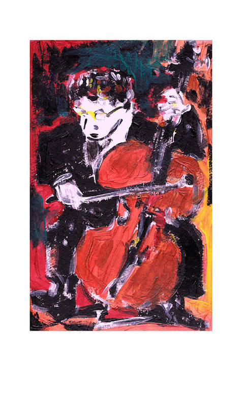 Music Art Print featuring the painting Strad by Samuel Zylstra