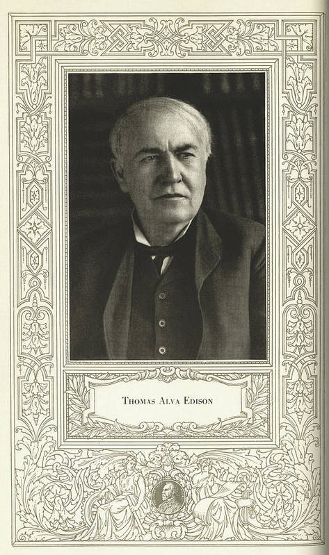 Edison Art Print featuring the photograph Thomas Edison, American Inventor by Science, Industry & Business Librarynew York Public Library