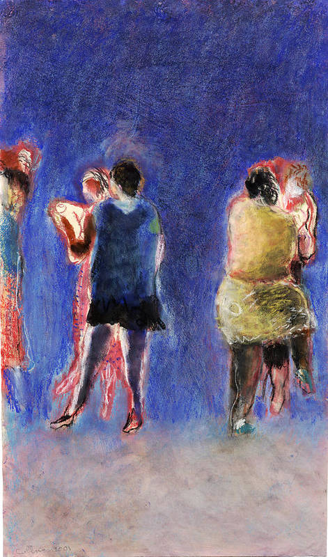 Dancer Art Print featuring the painting Dancers by Bill Collins