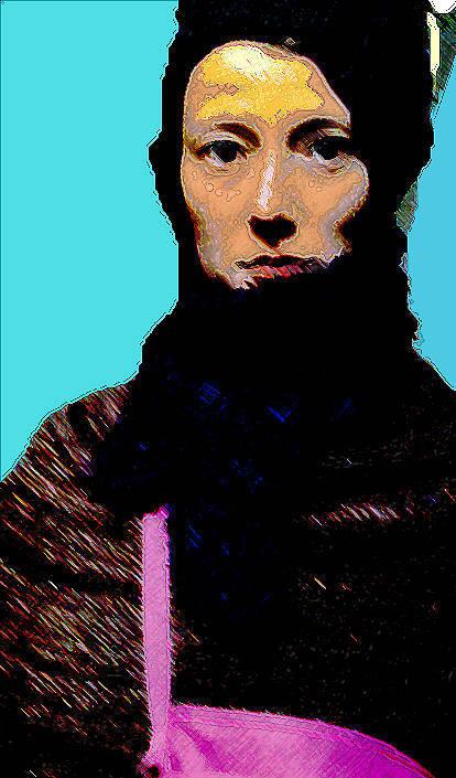 Portrait Art Print featuring the mixed media Bohemian by Noredin Morgan