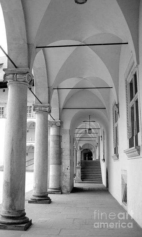 Architecture Art Print featuring the photograph Corridor In Wawel by Keiko Richter