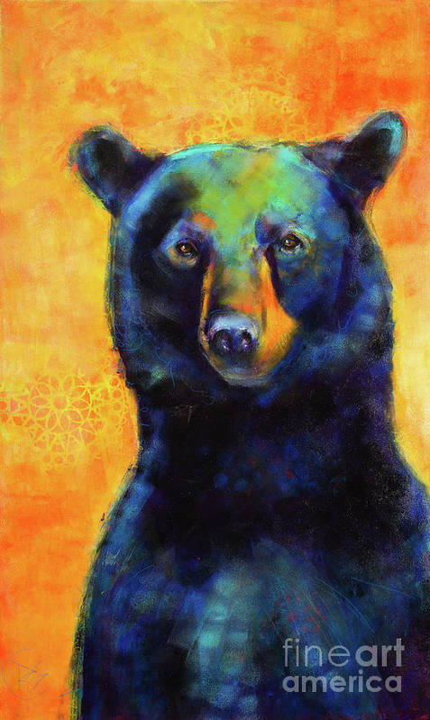 Bear Art Print featuring the painting Emperor Of Pemigewasset by Rosemary Conroy