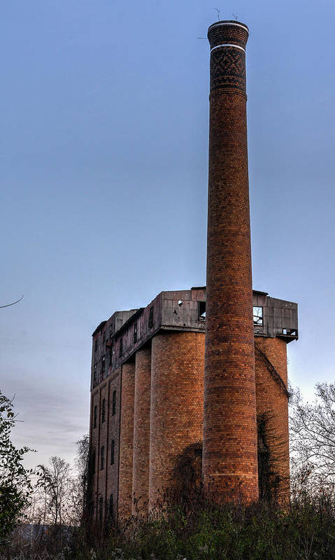 Art Print featuring the photograph Overholt Stack by Jim Figgins