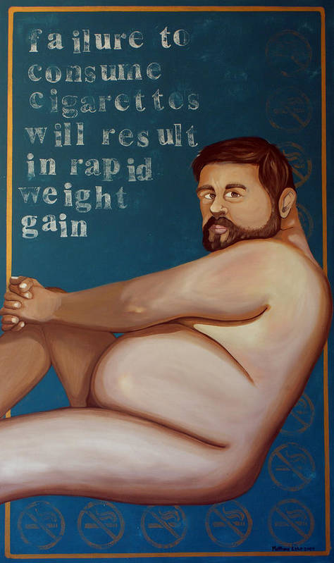 Oil Art Print featuring the painting You'll Get Fat by Matthew Lake
