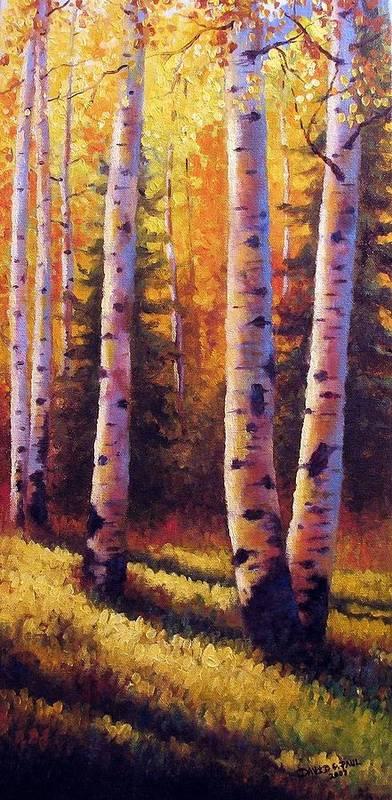 Light Art Print featuring the painting Golden Light by David G Paul