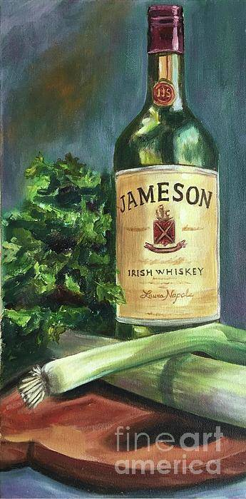 Jameson Art Print featuring the painting Irish Whiskey by Laura Napoli