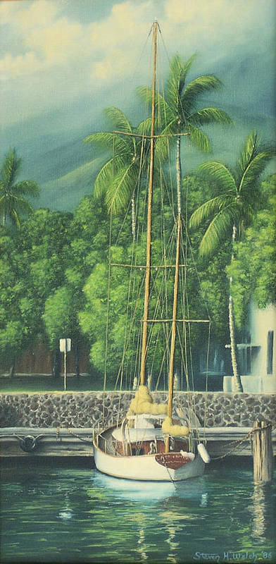 Hawaii Art Print featuring the painting Lahaina Harbor by Steven Welch