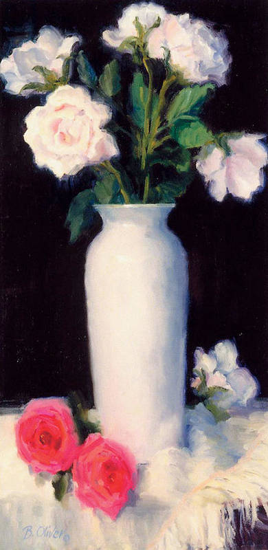 Still Life Art Print featuring the painting Simple Elegance by Bunny Oliver