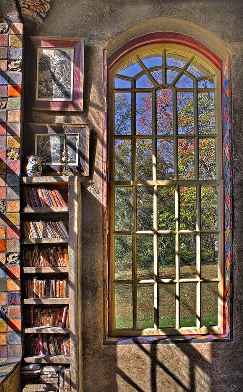 Byzantine Art Print featuring the photograph A Look From The Library by Susan Candelario