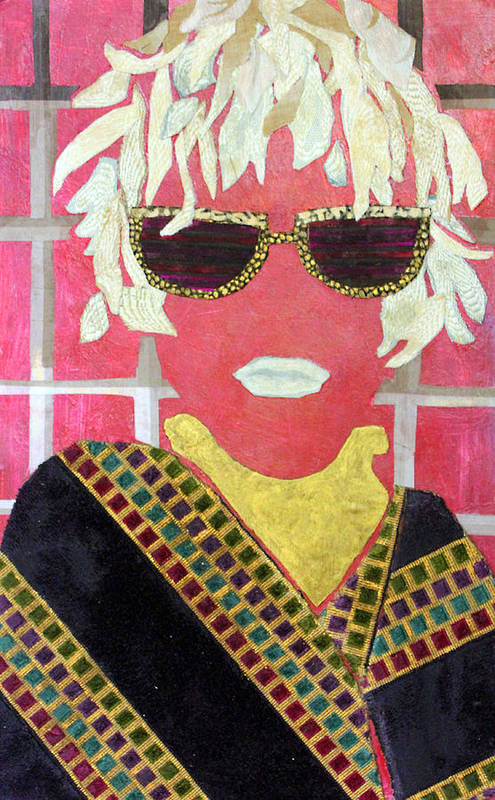 Mixed Media Portrait Art Print featuring the mixed media Cheap Sunglasses by Diane Fine