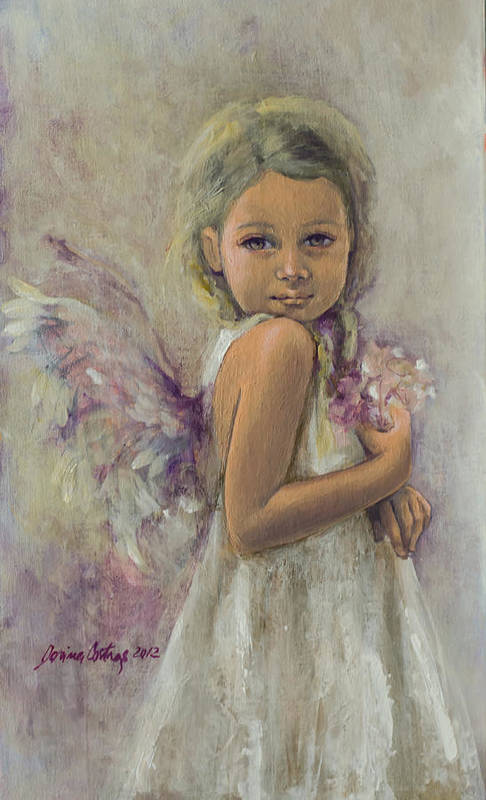 Art Art Print featuring the painting From Heaven... by Dorina Costras