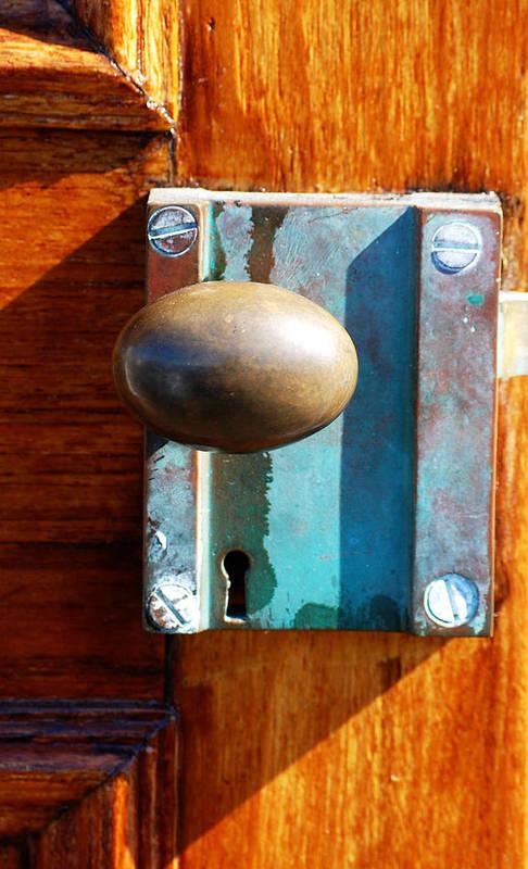 Door Art Print featuring the photograph Golden Door by Holly Blunkall