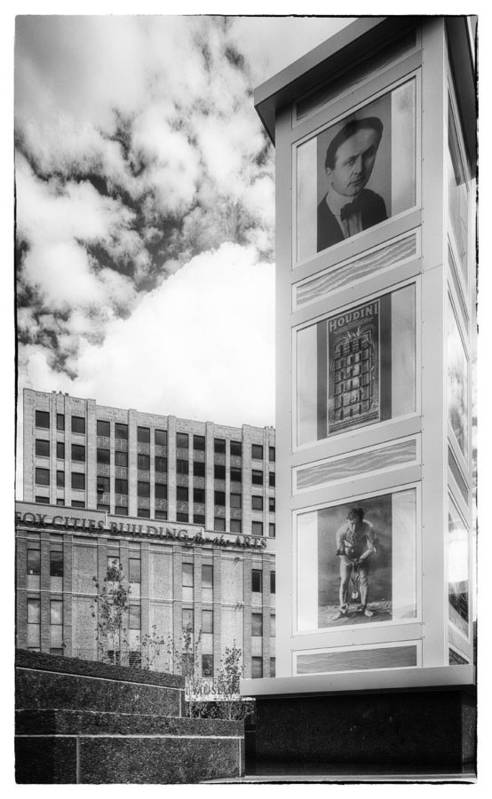 Houdini Plaza Art Print featuring the photograph Houdini Plaza by Thomas Young