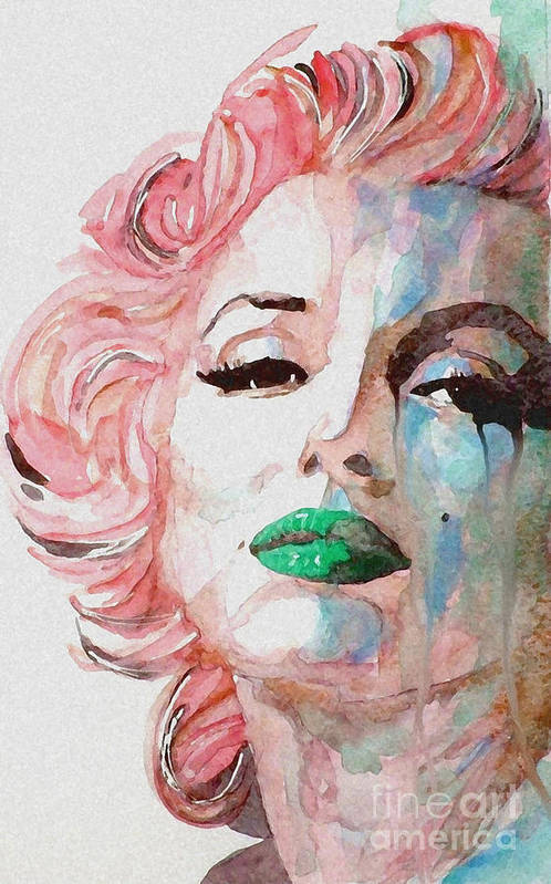 Marilyn Monroe Art Print featuring the painting Insecure Flawed But Beautiful by Paul Lovering