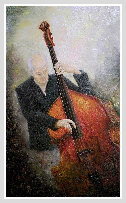 Jazz Art Print featuring the painting Jazz Player by Draia Coralia