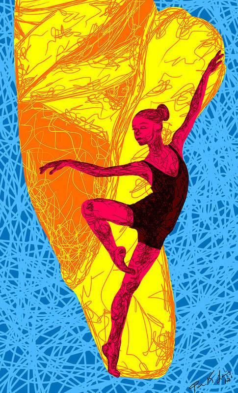 La Ballerina Du Juilliard Art Print featuring the painting La Ballerina Du Juilliard by Kenal Louis