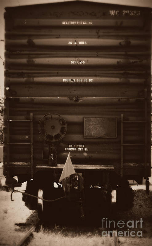 Train Cars Print featuring the photograph Missing It's Caboose by Deborah Fay
