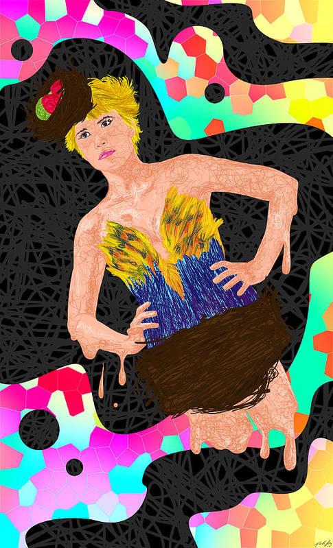 Did D'oiseau De Angela Balderston Art Print featuring the painting Nid D'oiseau De Angela Balderston by Kenal Louis