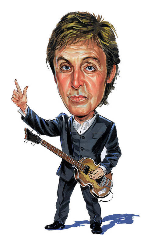 Paul Mccartney Art Print featuring the painting Paul Mccartney by Art
