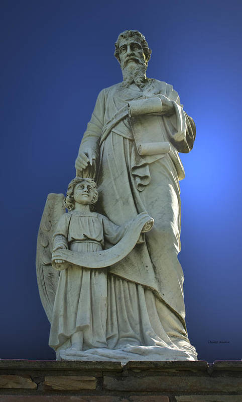 Statue Art Print featuring the sculpture Statue 05 by Thomas Woolworth