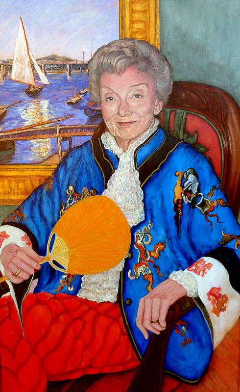 Nancy Roderick Art Print featuring the painting The Duchess by Tom Roderick