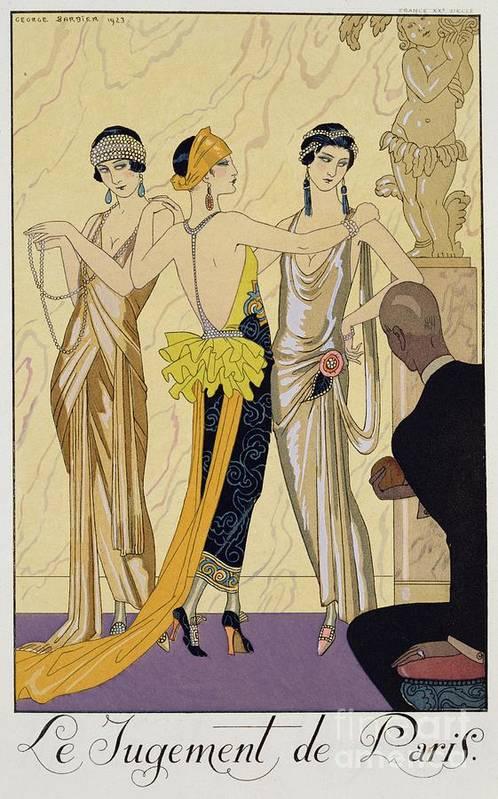 Le Jugement De Paris Art Print featuring the painting The Judgement Of Paris by Georges Barbier
