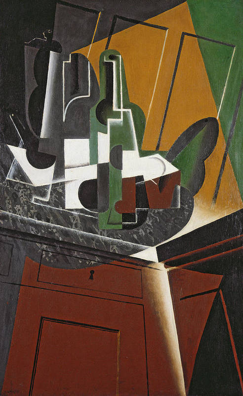 Cubist Art Print featuring the photograph The Sideboard, 1917 Oil On Plywood by Juan Gris