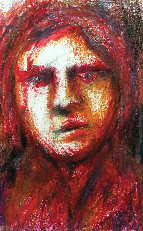 Portrait Art Print featuring the pastel The Unseen - 3 by Rabi Khan