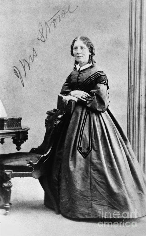 1860 Art Print featuring the photograph Harriet Beecher Stowe by Granger