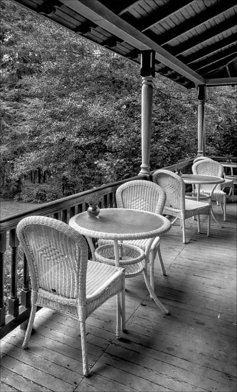 Porch Art Print featuring the photograph A Cloudy Day On The Porch by Robert Ullmann