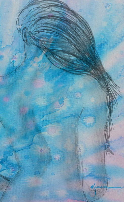 Pencil Sketch Art Print featuring the mixed media Before Bath by Kume Bryant