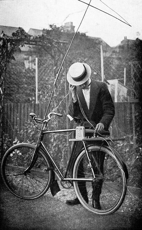 Equipment Print featuring the photograph Bicycle Radio Antenna, 1914 by
