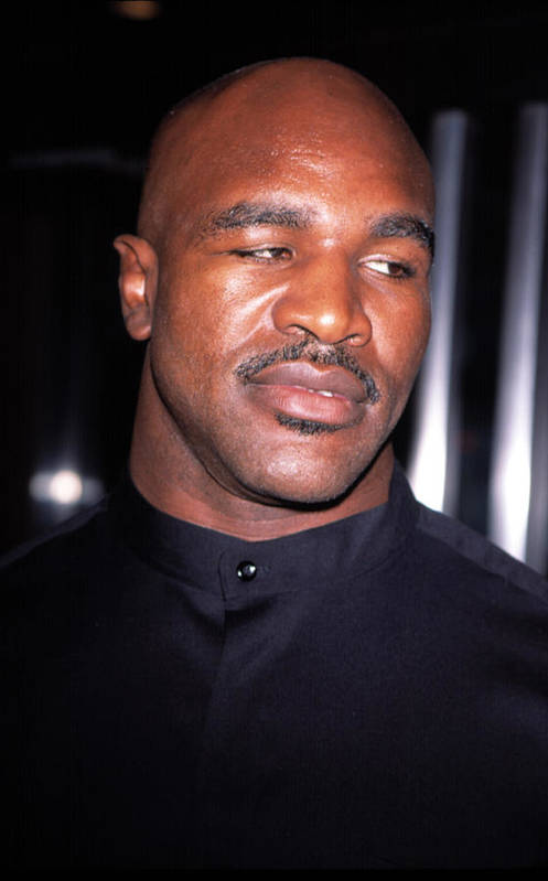 Boxer Print featuring the photograph Evander Holyfield At Premier Of In Too by Everett