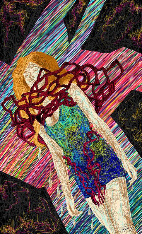 Fashion Abstraction De Dan Richters Art Print featuring the painting Fashion Abstraction De Dan Richters by Kenal Louis