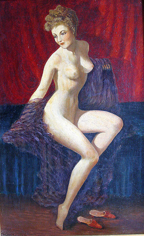 Oil Painting Art Print featuring the photograph Naked Beauty by Andonis Katanos