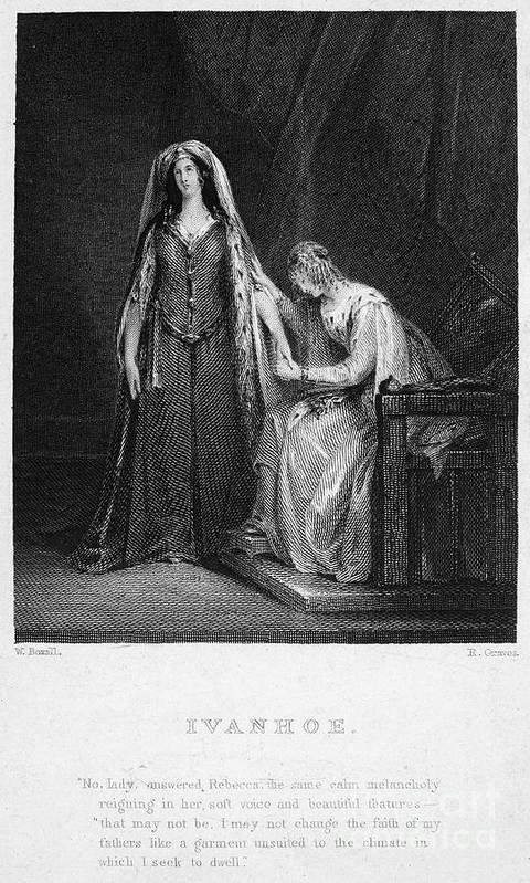 1832 Art Print featuring the photograph Scott: Ivanhoe, 1832 by Granger