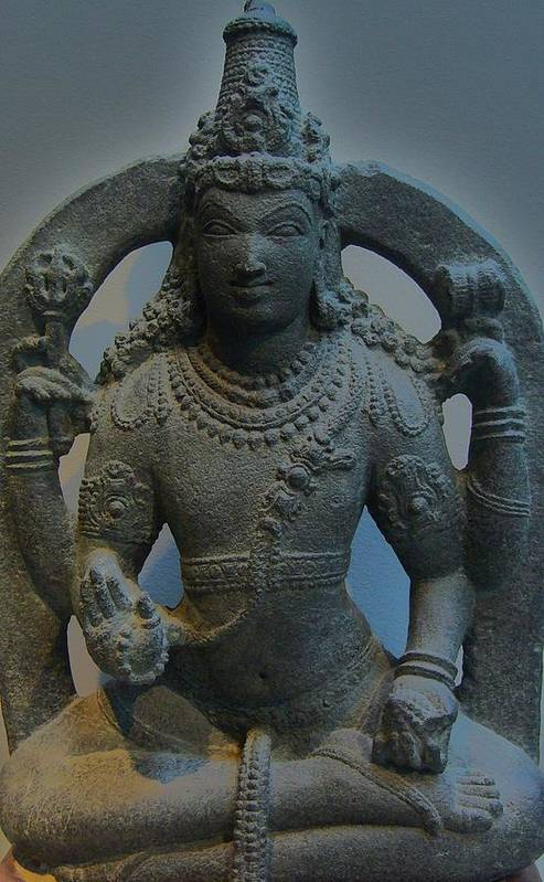 Sculpture Art Print featuring the photograph Shiva by Nancy Mitchell