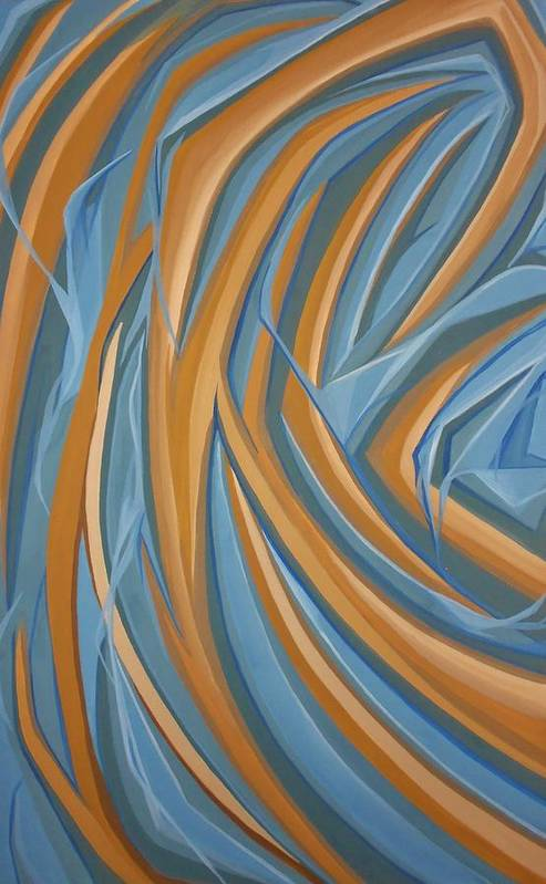 Abstract Art Print featuring the painting Sandy Beach by Carter Gillis