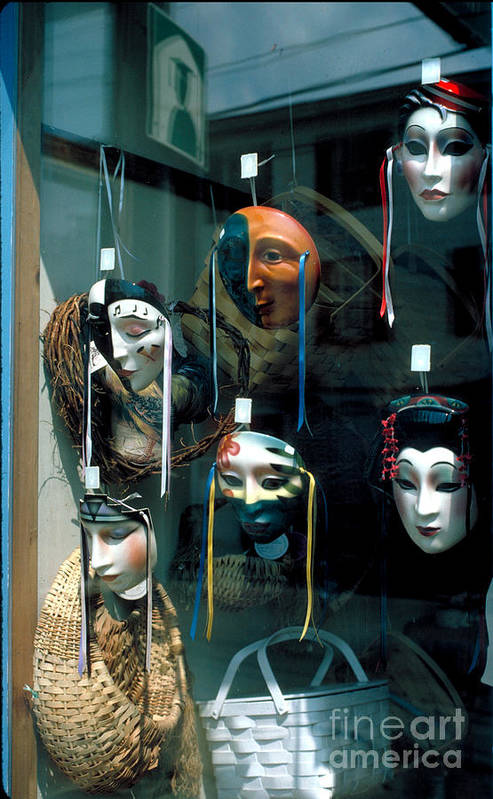 Mask Art Print featuring the photograph The Looking Glass by Guy Harnett