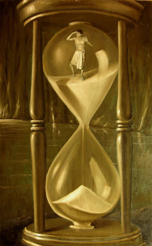 The Time Art Print featuring the painting The Time by Giovanni Rapiti