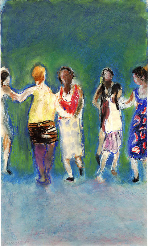 Dancers Art Print featuring the painting Dancers by Bill Collins