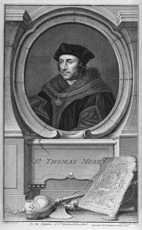 1500s Art Print featuring the photograph Sir Thomas More, English Statesman by Middle Temple Library